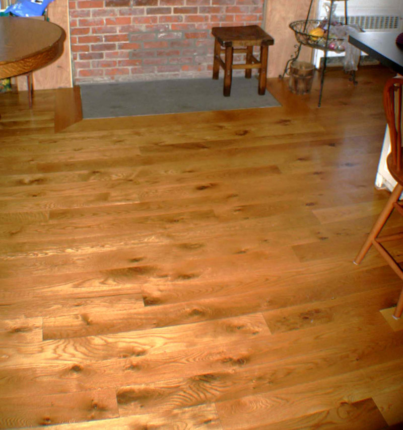 Kellogg hardwood lumber wide plank white oak flooring for Wide plank wood flooring